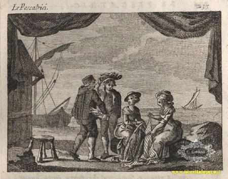 Le Pescatrici image from Goldoni's original libretto