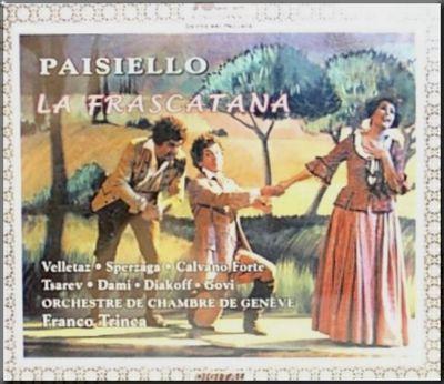 Paisiello La Frascatana cover