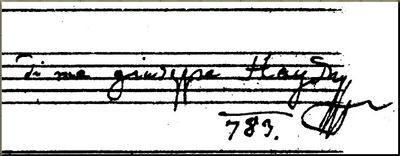 1783 Cello Concerto autograph closeup