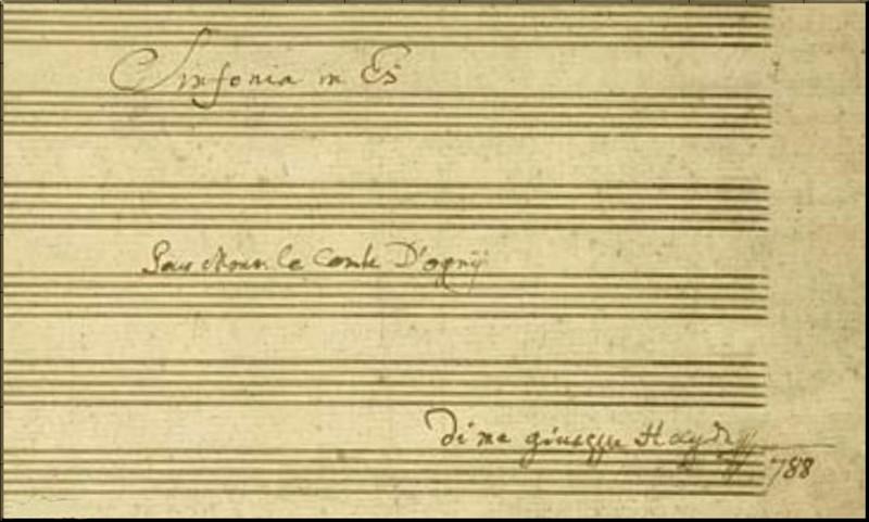1788 Symphony 91 title page