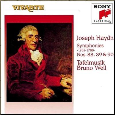 Haydn Weil Symphonies 88-90 cover
