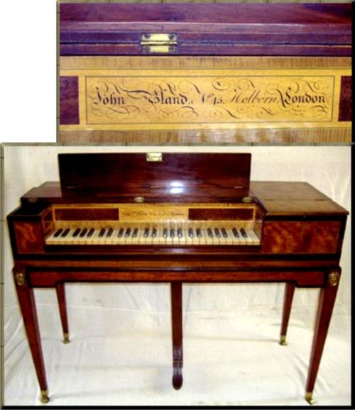 1790 John Bland Square Piano upload small