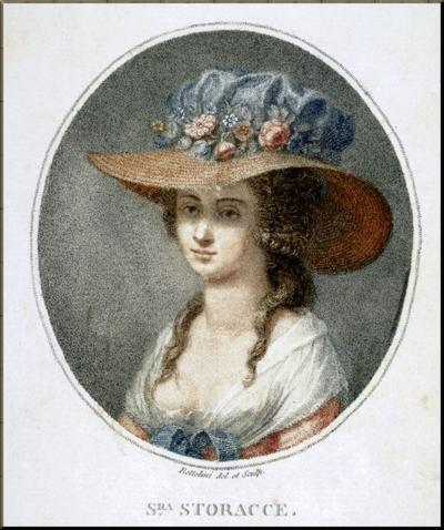 1791 Nancy Storace Portrait By Pietro Bettelini (c 1788)
