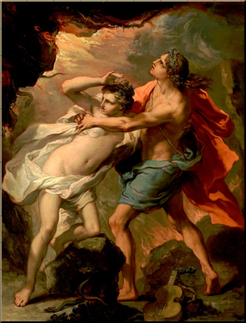 1791 Orpheus & Eurydice escaping the underworld by Gaetano Gandolfi