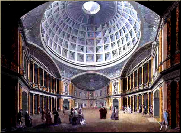 1792 The Pantheon in Oxford Street c 1790 by William Hodges