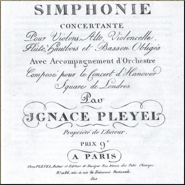 1792 Pleyel Sinfonien concertante 113 front page