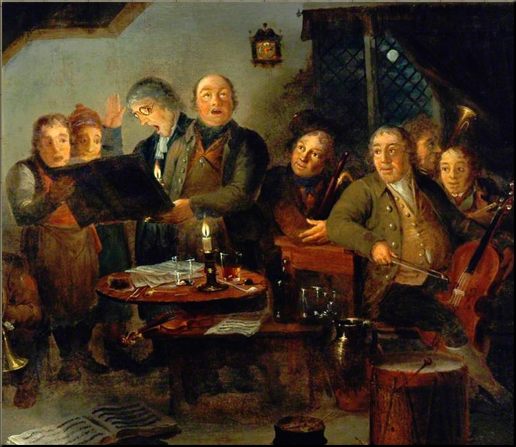 1792 The Halifax Church Choir practising at the Ring o' Bells Inn - Thomas Farrar - 1796