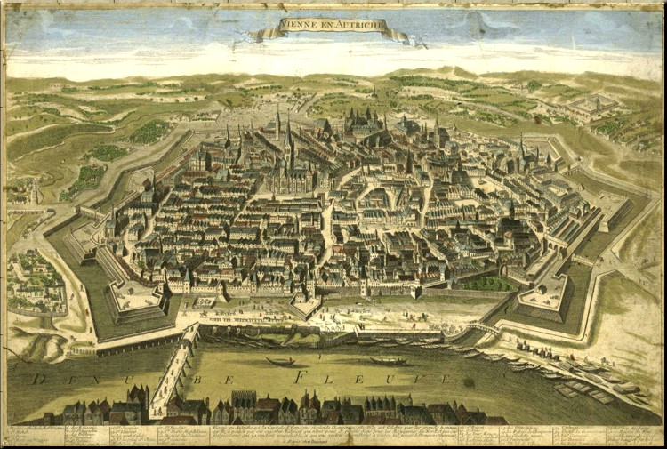 1780 Map of Vienna