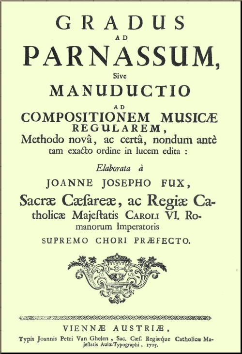1793 Title page of a first edition Gradus ad Parnassum