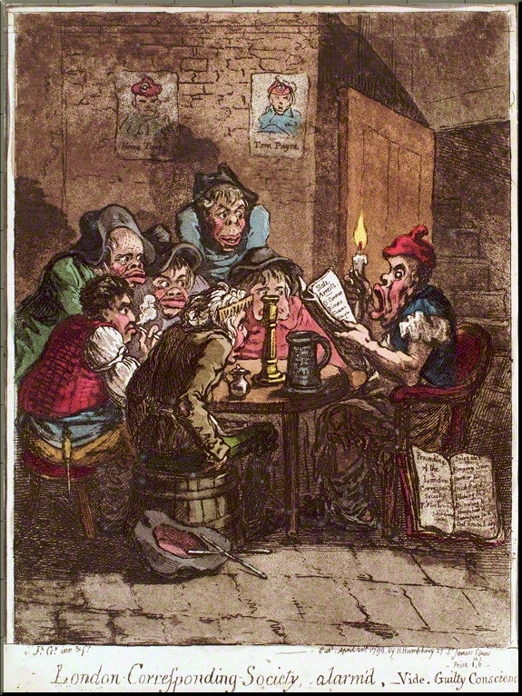 1794 A London Corresponding Society by James Gillray (1798)