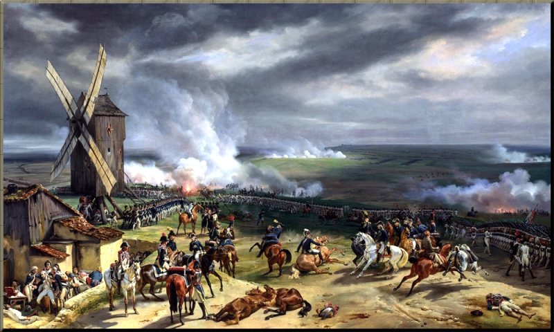 1792 Battle of Valmy by Jean Baptiste Mauzaisse 9_20_92