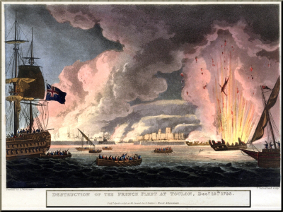 1794 Destruction of the French Fleet at Toulon 18 Dec 1793