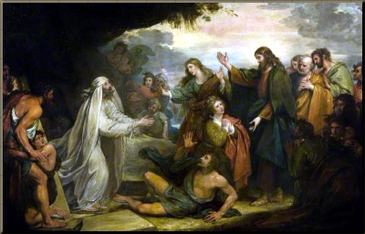 1794 The Raising of Lazarus by B. West Winchester Cathedral
