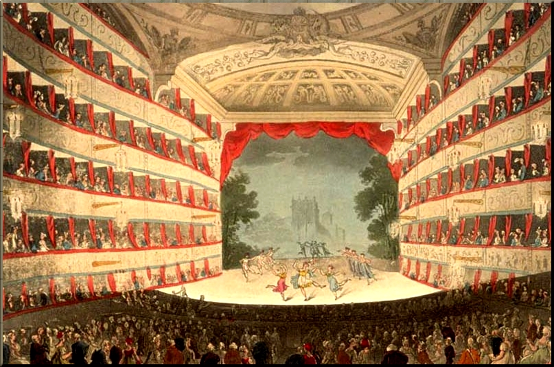 1795 The King's Theater (The London Opera) 1791 by John Bluck