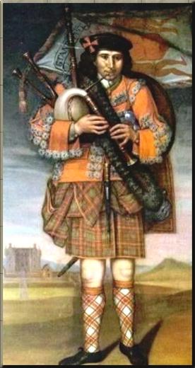 1795 A Highland Piper ca 1714
