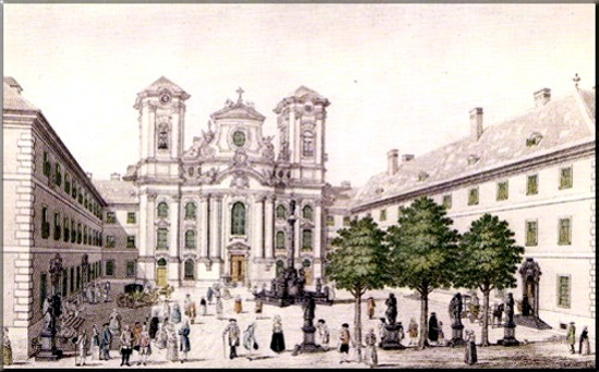 1796 The Piarist Church of Maria Treu in 1781