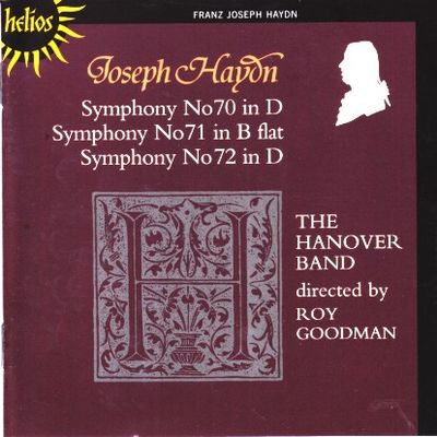 Haydn Symphonies 070 - 072 Goodman cover