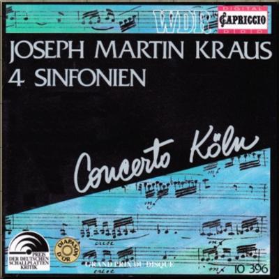 Kraus Symphonies Concerto Köln cover 1