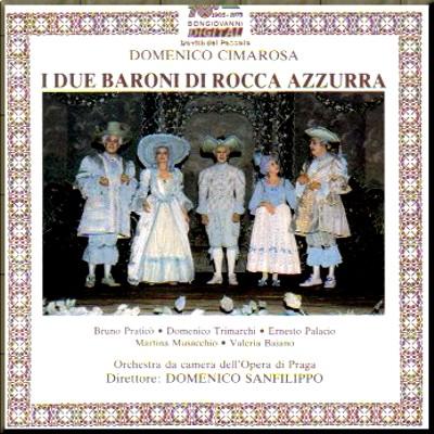 1786 Il due baroni di rocca azzurra Cimarosa cover