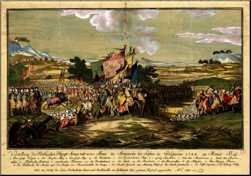 1788 Turkish Army Marching through Bulgaria