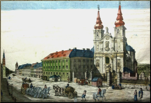 1789 Mariahilf Church central Vienna