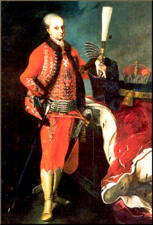 1790 Nicholas in Hungarian Guard regalia ~1780