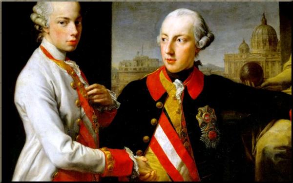 1790 Leopold II & Joseph II in 1769 - Pompeo Batoni (1708–1787) sm