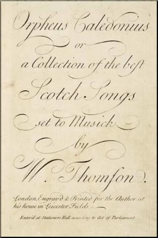 1792 Orpheus Caledonius W. Thomson 2