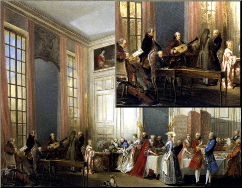 'Afternoon Tea in the Temple' -  1765 Ollivier