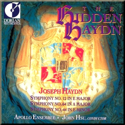 Haydn Symphonies 12, 44 & 64 Apollo Ensemble cover