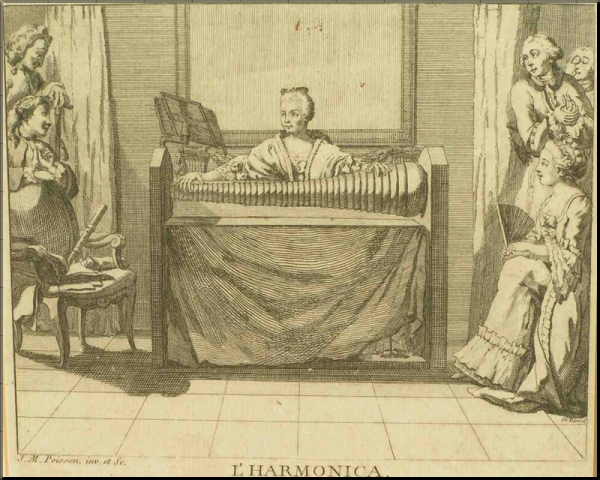 1794 Angelika Kaufmann playing the glass armonica