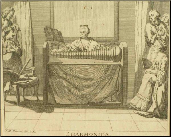 1794 Angelika Kaufmann playing the glass armonica
