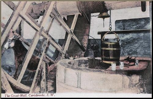 1794 Carisbrooke castle donkey well small