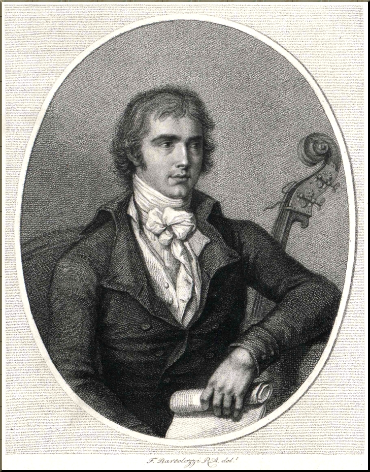 1795 Bartolozzi Engraving of Domenico Dragonetti sm