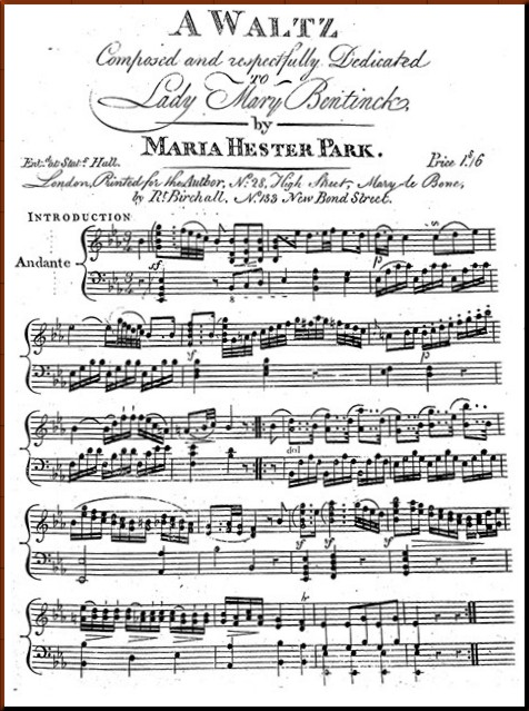 1794 Waltz Maria Hester Park