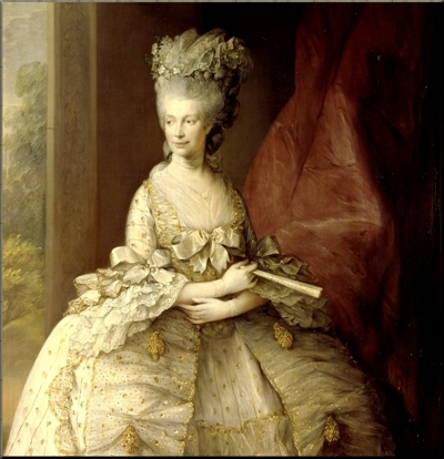 1795 Queen Charlotte by Gainsborough (1781) small