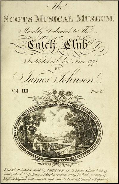 1795 Burns The Scots Musical Museum Vol 4