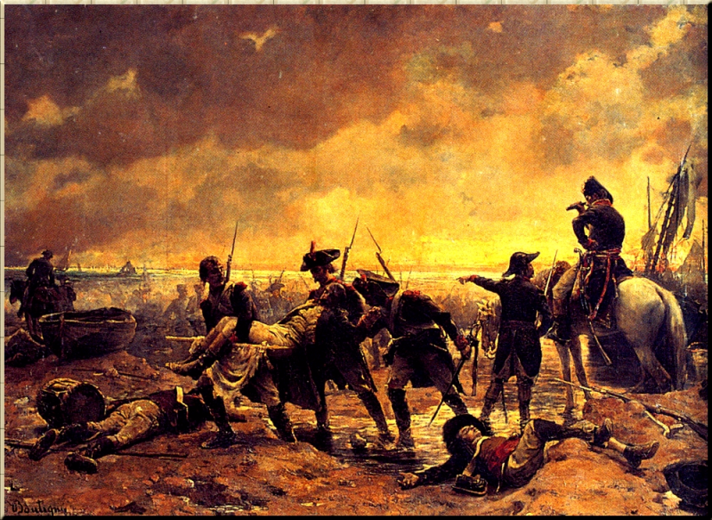 1795 The Siege of Quiberon by Paul-Émile Boutigny (June-July 95)