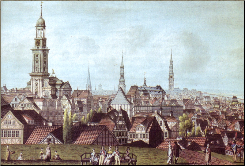1795 Hamburg in 1811 by J.M. David