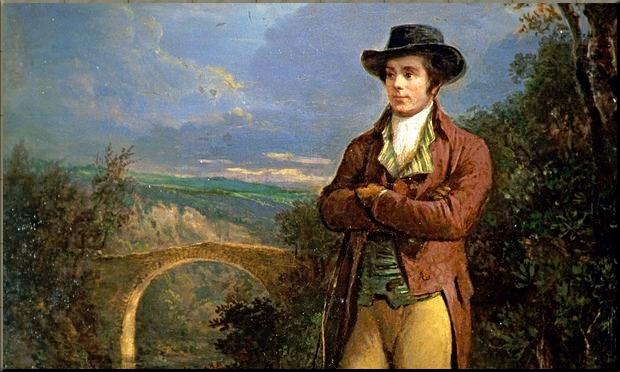 1792 Robert Burns by Alexander Nasmyth (1828)