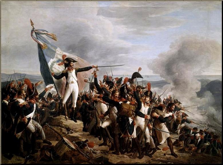 1796 Battle of Montenotte 'Rampon Defending Monte Legino Redoubt' by René Théodore Berthon