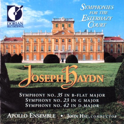 Haydn Symp 35 23 42 Apollo Hsu cover