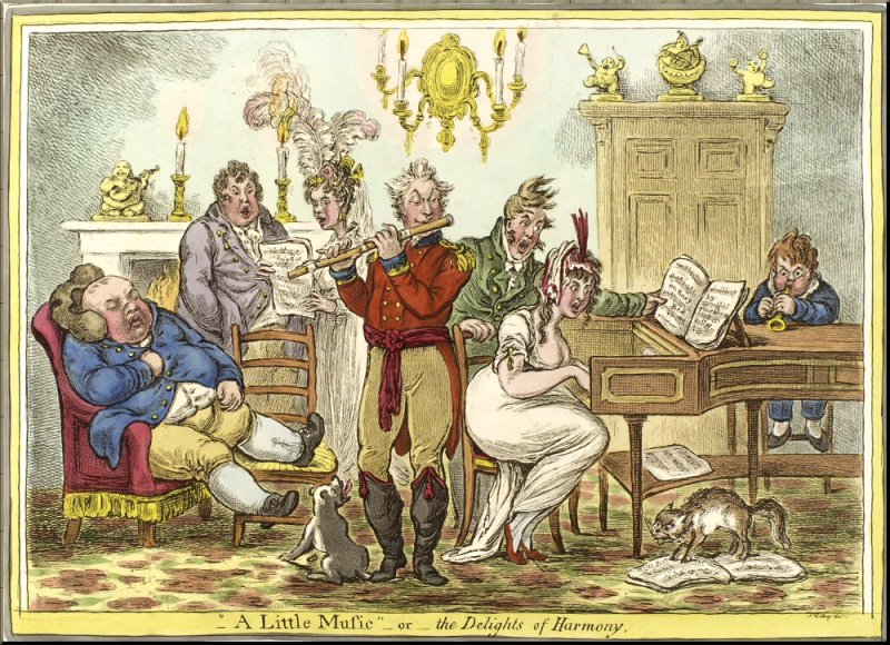 1796 A little music - or - the delights of harmony by James Gillray sm