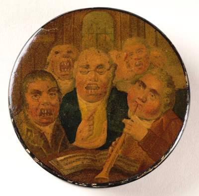 1796 A glee club on the lid of a snuffbox - Anon