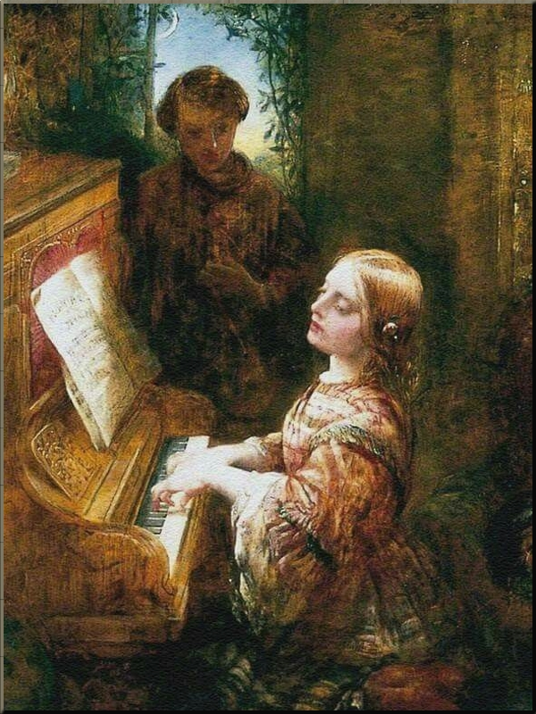 1796 Singing a Duet at the Pianoforte Alfred Woolmer