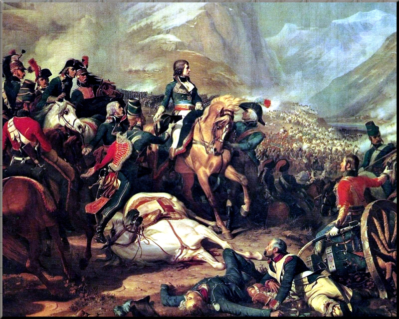 1797 Napoleon at the Battle of Rivoli 14 Jan 1797 Felix Philippoteaux