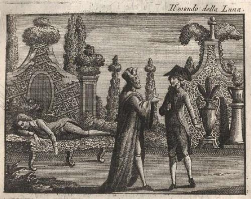 Il Mondo de la Luna image from Goldoni's original libretto