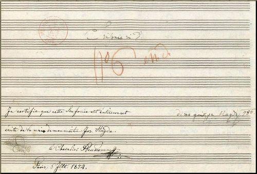 1786 Autograph score Sym 86