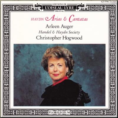 Haydn Arias & Cantatas Hogwood Auger cover