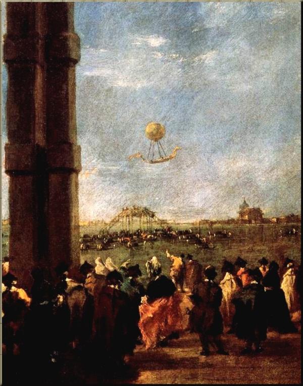1787 Hot Air Balloon Francesco Guardi